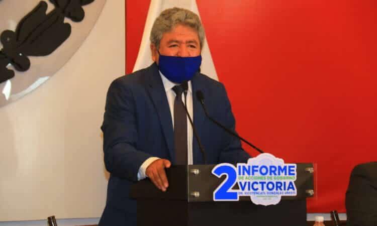 Rinde Xico González, Segundo Informe de Acciones de Gobierno